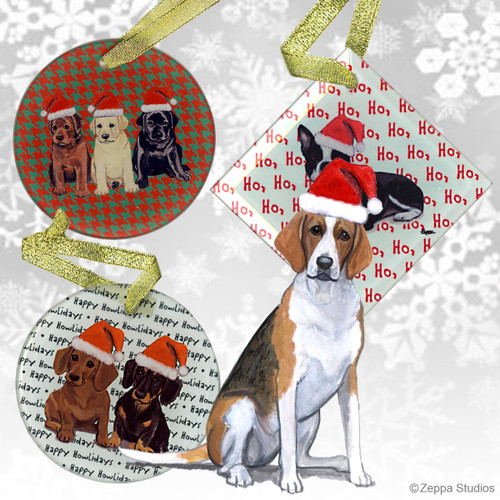 Foxhound Christmas Ornaments