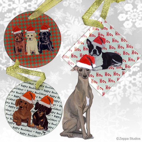 Italian Greyhound Christmas Ornaments