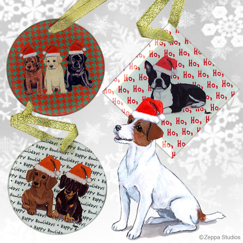 Jack Russell Terrier Christmas Ornaments
