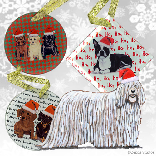 Komondor Christmas Ornaments