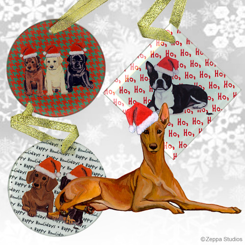 Pharaoh Hound Christmas Ornaments