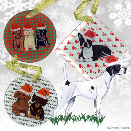 Pointer Christmas Ornaments