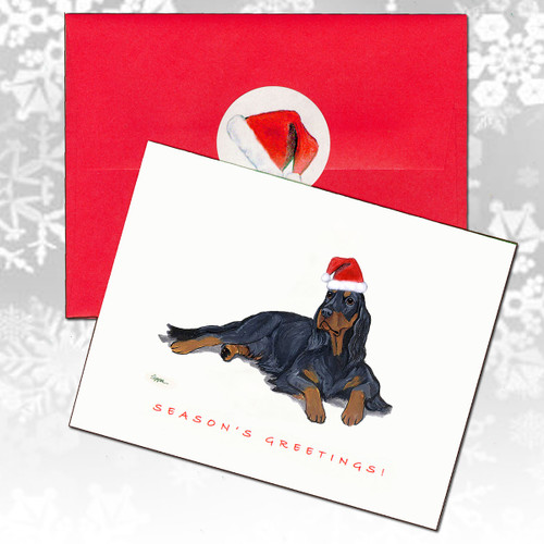 Gordon Setter Christmas Cards