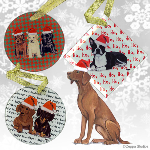 Vizsla Christmas Ornaments
