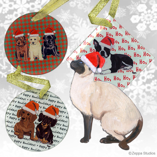 Siamese Cat Christmas Ornaments