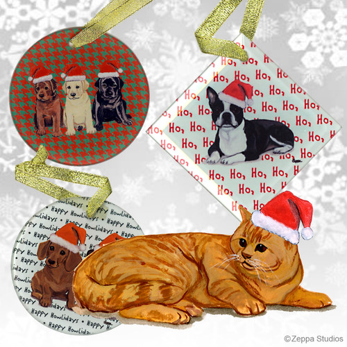 Red Tabby Christmas Ornaments