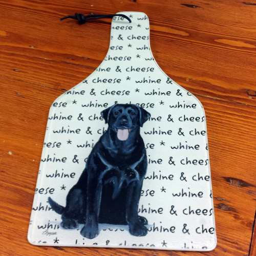 Whine and cheese board, Black Lab.