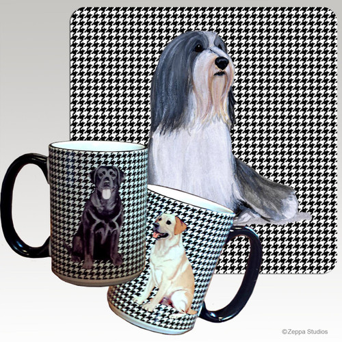 Bearded Collie Houndzstooth Mug