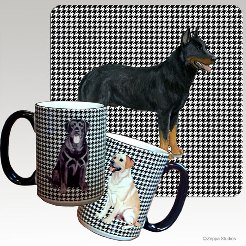 Beauceron Collie Houndzstooth Mug