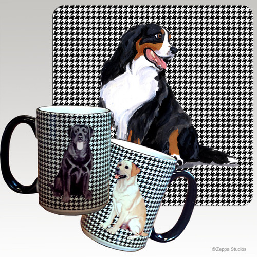 Bernese Mountain Dog Houndzstooth Mug