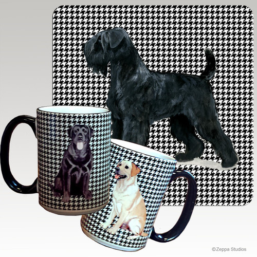 Black Russian Terrier Houndzstooth Mug