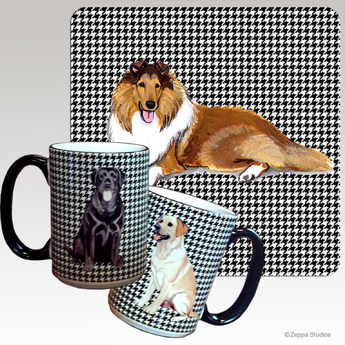 Collie Houndzstooth Mug