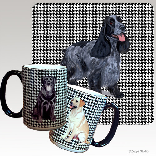 English Cocker Spaniel Houndzstooth Mug