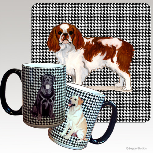 English Toy Spaniel Houndzstooth Mug