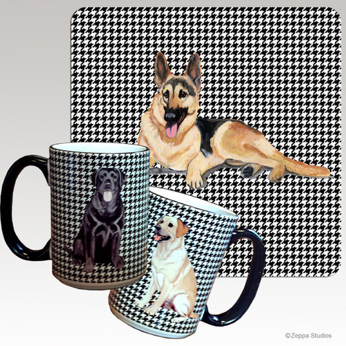 German Shepherd Houndzstooth Mug