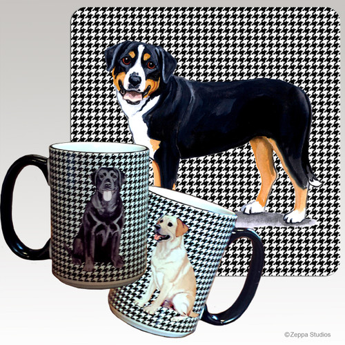 Greater Swiss Mtn Dog Houndzstooth Mug