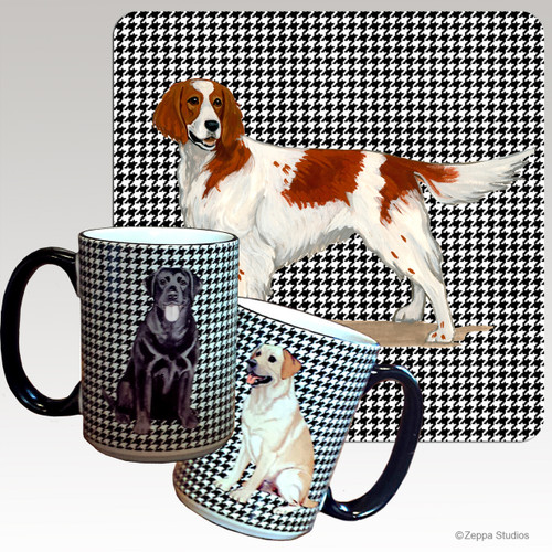 Irish Red and White Setter Houndzstooth Mug