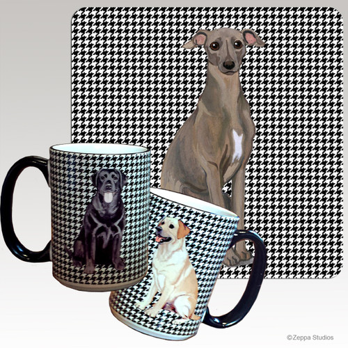 Italian Greyhound Houndzstooth Mug