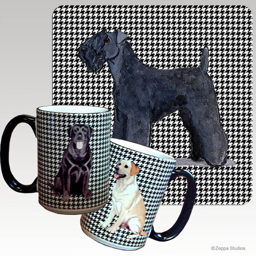 Kerry Blue Terrier Houndzstooth Mug