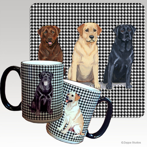 Lab Trio, Adults Houndzstooth Mug