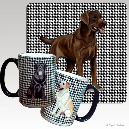 Chocolate Labrador Houndzstooth Mug