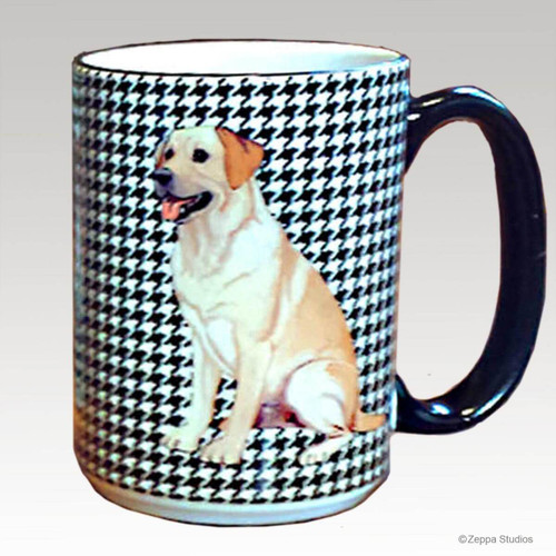 Yellow Lab Houndzstooth Mug