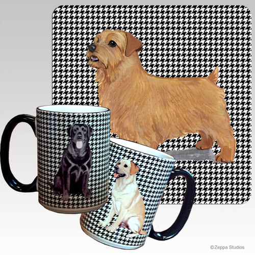 Norfolk Terrier Houndzstooth Mug