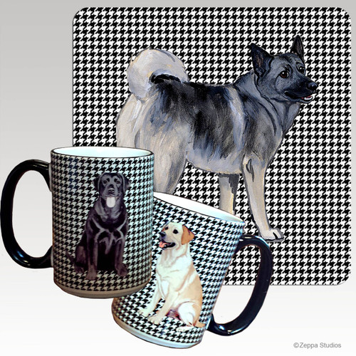 Norwegian Elkhound Houndzstooth Mug
