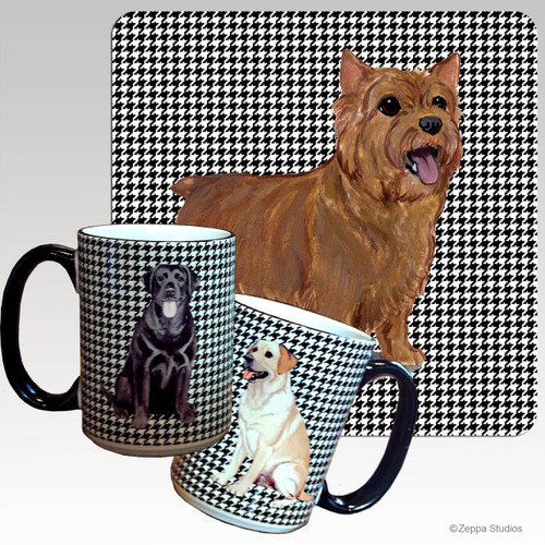Norwich Terrier Houndzstooth Mug