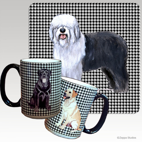 Old English Sheepdog Houndzstooth Mug