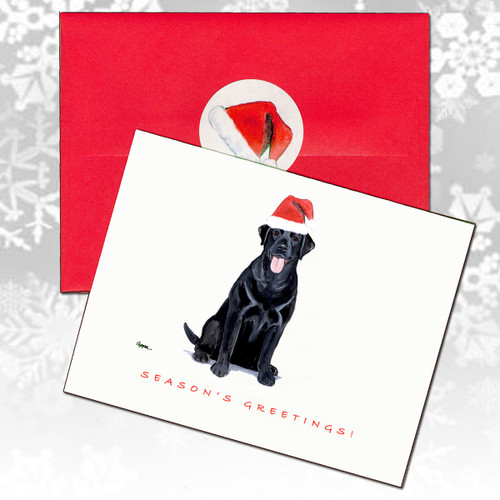 Labrador Retriever, Black Christmas Cards