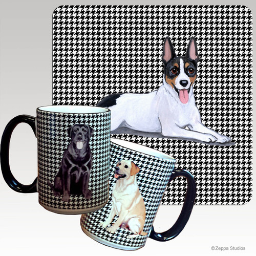Rat Terrier Houndzstooth Mug - Rectangle