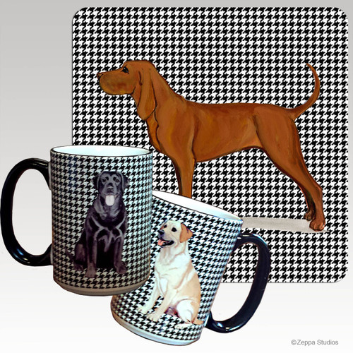 Redbone Coonhound Houndzstooth Mug - Rectangle