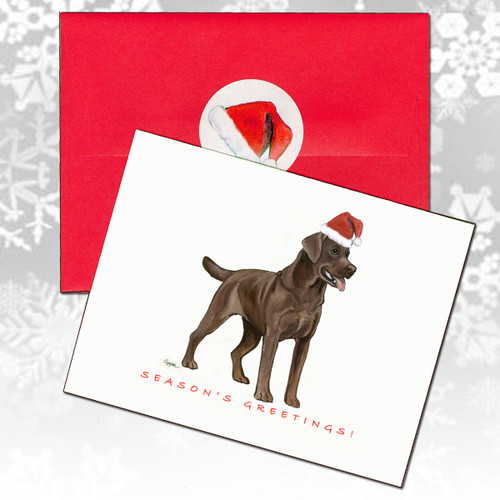 Labrador Retriever, Chocolate Christmas Cards