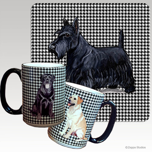Scottish Terrier Houndzstooth Mug