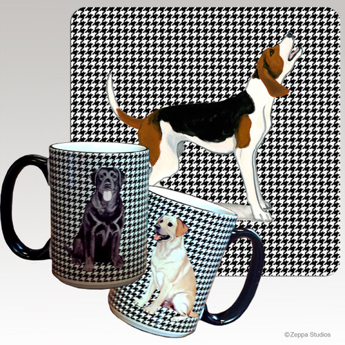 Treeing Walker Coonhound Houndzstooth Mug - Rectangle