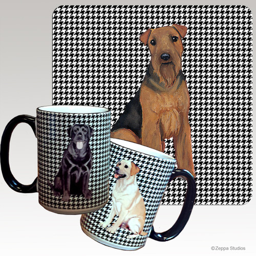 Welsh Terrier Houndzstooth Mug - Rectangle