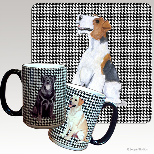 Wirehaired Fox Terrier Houndzstooth Mug