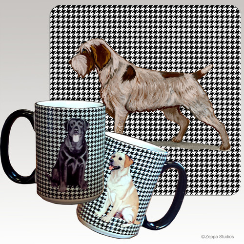 Wirehaired Pointing Griffon Houndzstooth Mug