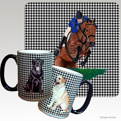 Hunter Jumper Houndzstooth Mug