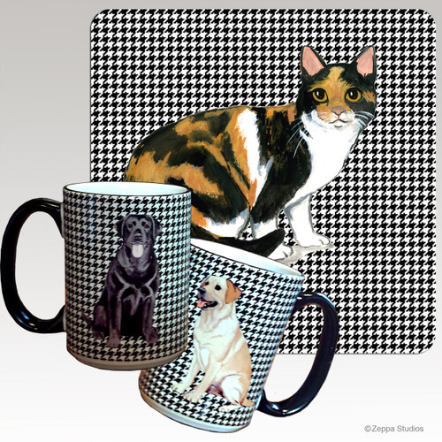 Calico Cat Houndzstooth Mug