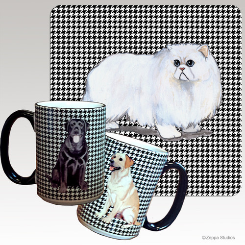 Persian Cat Houndzstooth Mug