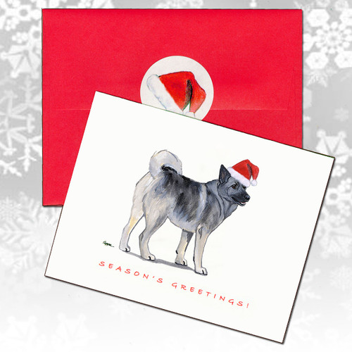Norwegian Elkhound Christmas Cards