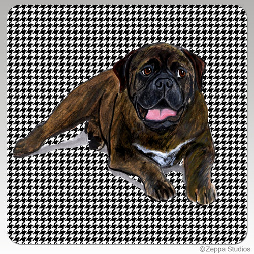 Bull Mastiff Houndzstooth Coasters