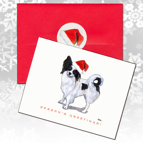 Papillon Christmas Cards