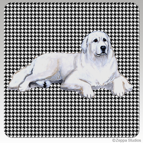 Great Pyrenees Houndzstooth Coasters