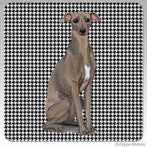 Italian Greyhound Houndzstooth Coasters