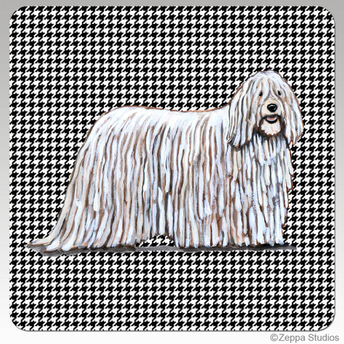 Komondor Houndzstooth Coasters