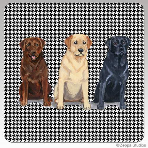 Lab Trio, Adults Houndzstooth Coasters