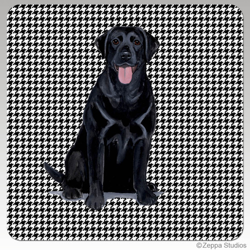 Black Lab Houndzstooth Coasters